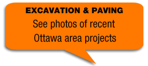 EXCAVATION & PAVING - See photos of recent Ottawa area projects